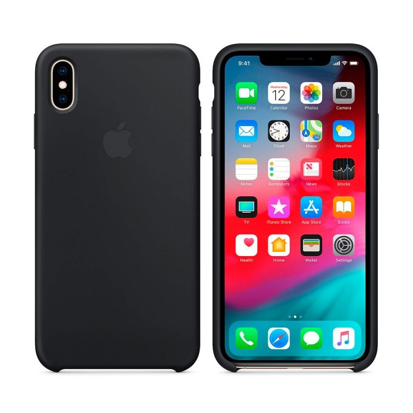 Apple mrwe2zm/a negro carcasa de silicona apple iphone xs max