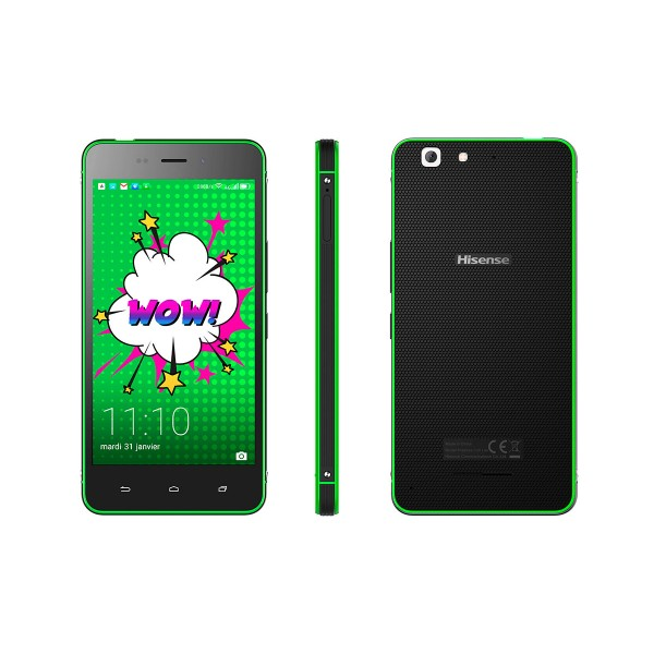 Hisense c30 rock lite verde móvil 4g dual sim 5'' ips fhd/4core/16gb/2gb ram/8mp/5mp