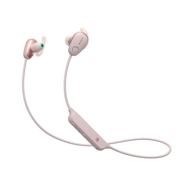 Sony wi-sp600 rosa auriculares inalámbricos bluetooth nfc noise cancelling micrófono integrado con función manos libres