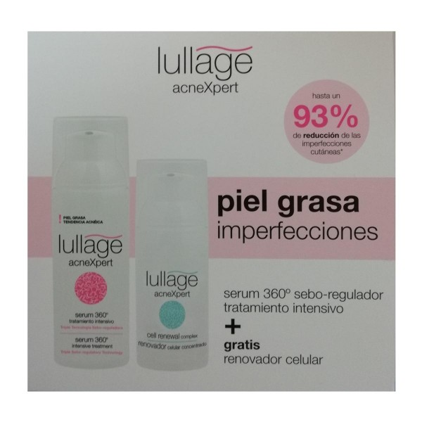 Lullage acnexpert serum piel grasa 50ml + renovador celular 30ml