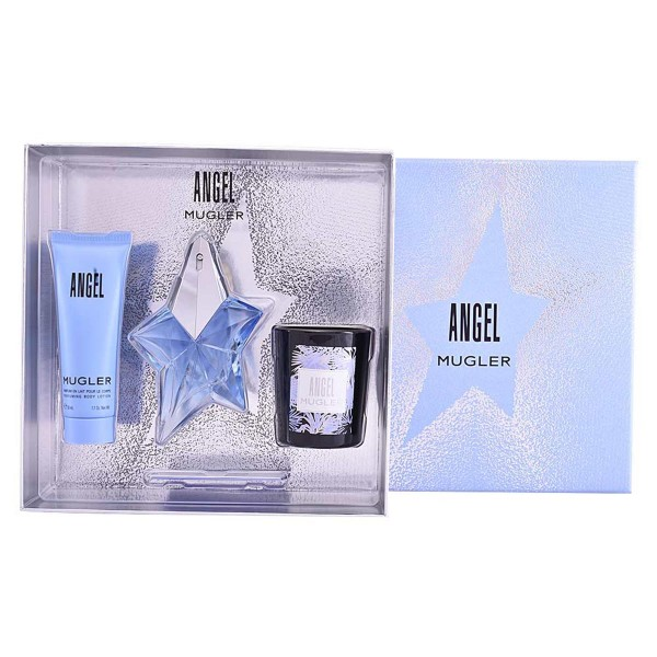 Thierry mugler angel eau de parfum 25ml + perfumed body lotion 50ml + vela 70gr