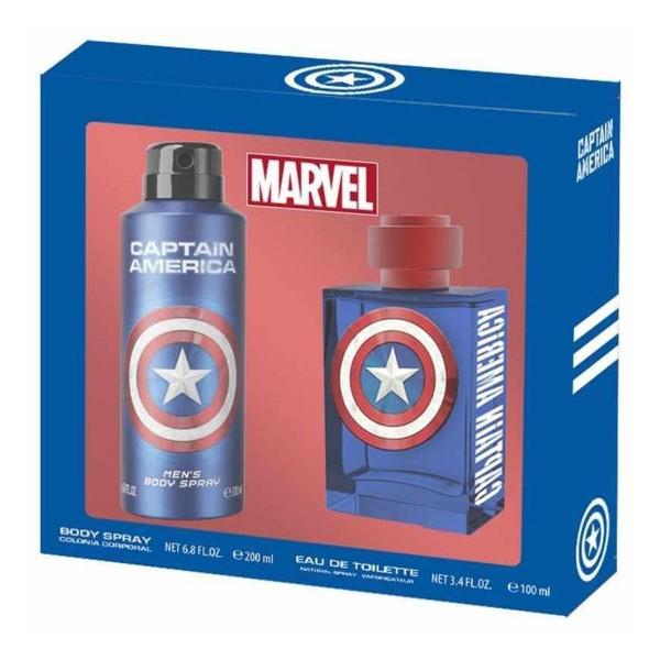 Marvel capitan america eau de toilette 100ml vaporizador + colonia 200ml