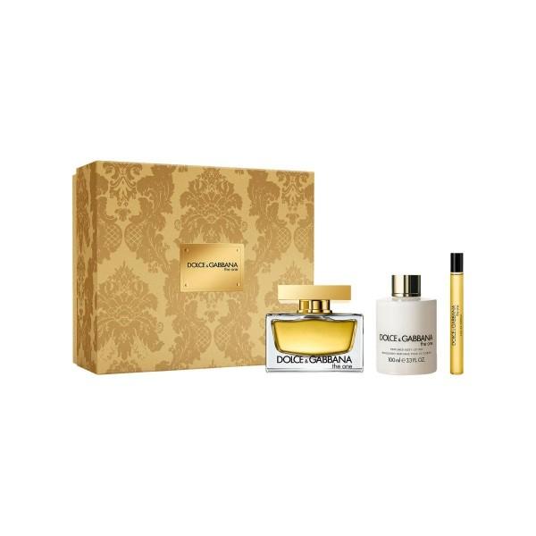Dolce & gabbana the one eau de parfum 75ml vaporizador + perfumed body lotion 10ml + miniatura 10ml