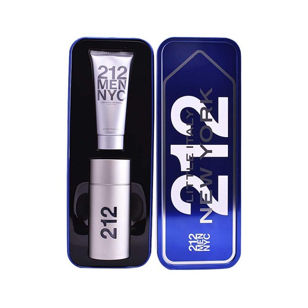 Carolina herrera 212 men eau de toilette 100ml vaporizador + gel de baño 100ml