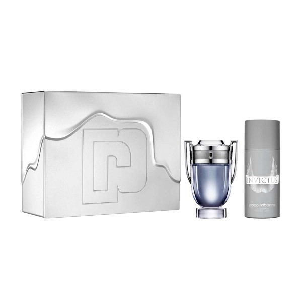 Paco rabanne invictus eau de toilette 100ml vaporizador + desodorante 150ml vaporizador