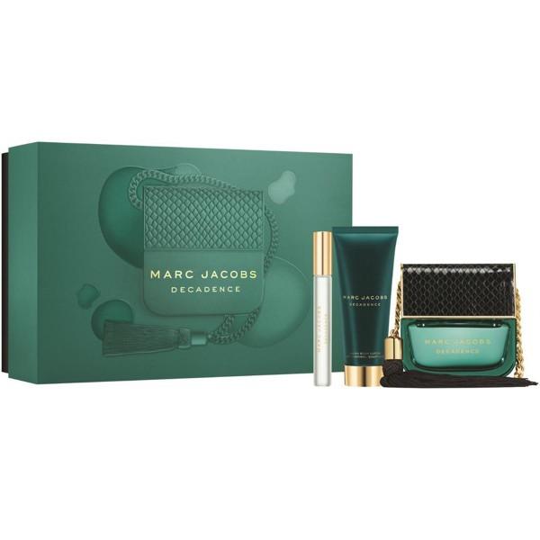 Marc jacobs decadence eau de parfum 100ml vaporizador + crema hidratante corporal 75ml + miniatura eau de parfum 10ml