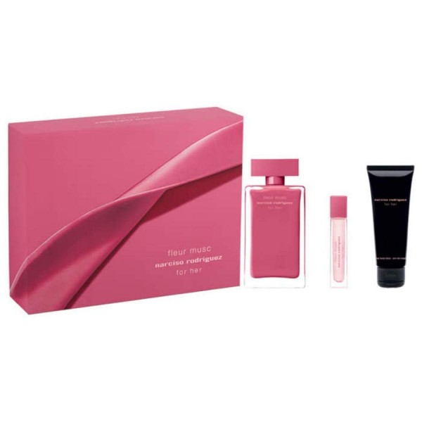 Narciso rodriguez musc fleur eau de parfum 100ml vaporizador + body lotion 75ml + spray 10ml vaporizador