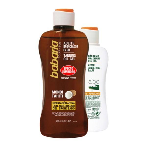 Babaria solar aceite gel protector monoi tahiti 200ml + after sun aloe 100ml
