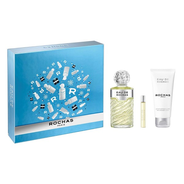 Rochas eau de rochas eau de toilette 100ml vaporizador + body lotion 100ml + spray 7 5ml vaporizador
