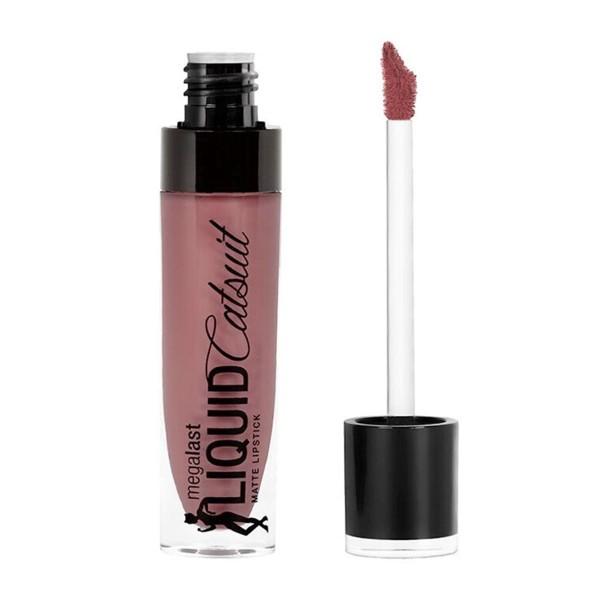 Wetn wild megalast liquid catsuit matte barra de labios rebel rose