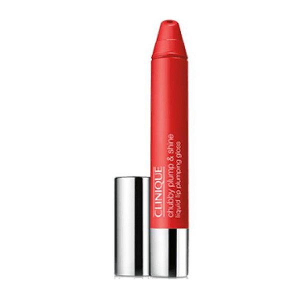 Clinique chubby plump & shine liquid brillo de labios super scarlet