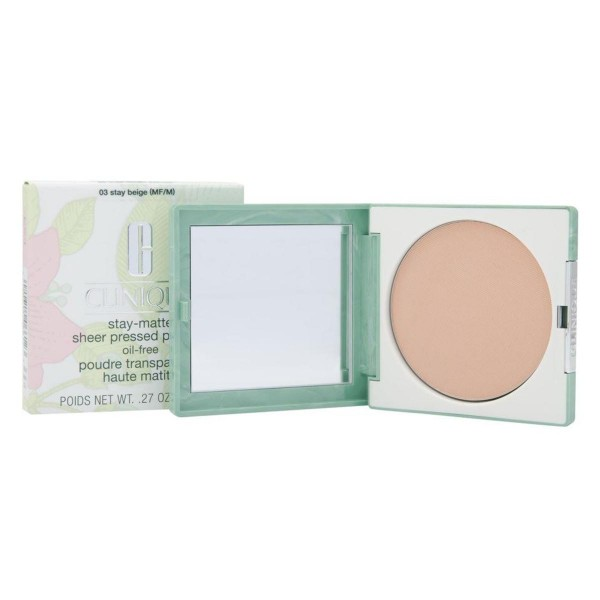 Clinique stay matte sheer polvos compactos 03 stay beige oil free