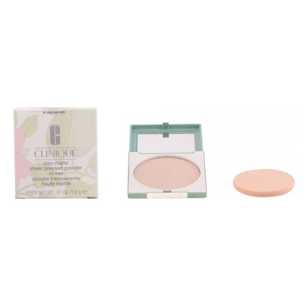 Clinique stay matte sheer polvos compactos 01 stay buff