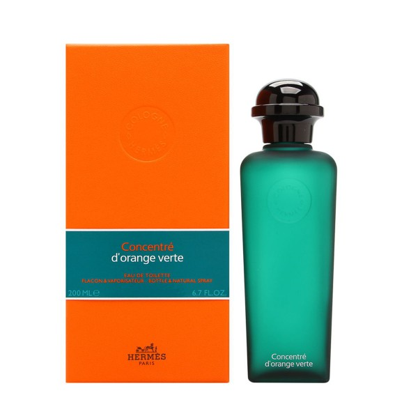 Hermes paris eau d'orange verte concentrado eau de toilette 200ml vaporizador