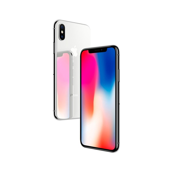 Apple iphone x 64gb plata móvil 4g 5.8'' super retina oled hdr/6core/64gb/3gb ram/12mp+12mp/7mp