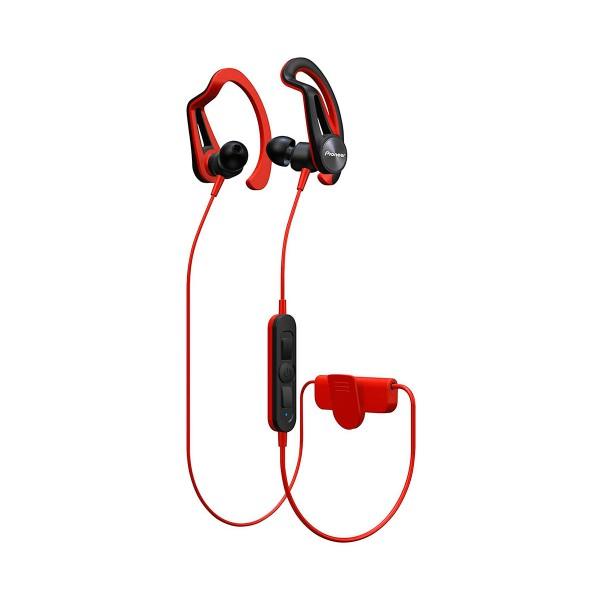 Pioneer se-e7bt rojo auriculares inalámbricos bluetooth con micrófono diseño en 2 versiones ipx4