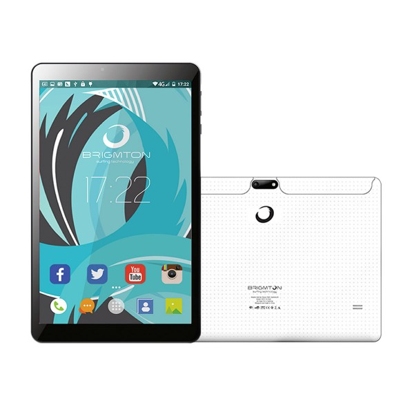 Brigmton btpc1019 blanco tablet wifi 10'' ips hd/4core/16gb/1gb ram/2mp