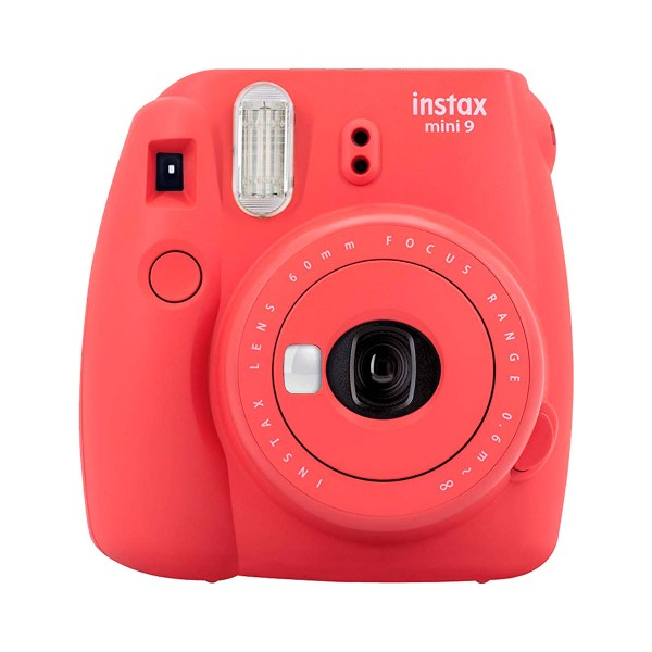 Fujifilm instax mini 9 rojo amapola cámara instantánea con flash
