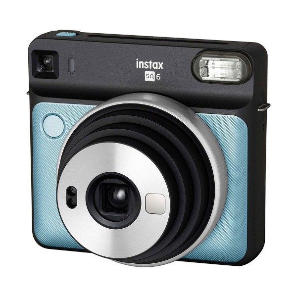 Fujifilm instax square sq6 azul aguamarino cámara instantánea con 5 modos de imagen y 3 filtros para el flash