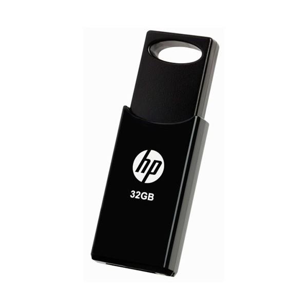 Hp pendrive v212w negro 32gb memoria usb 2.0 con llavero