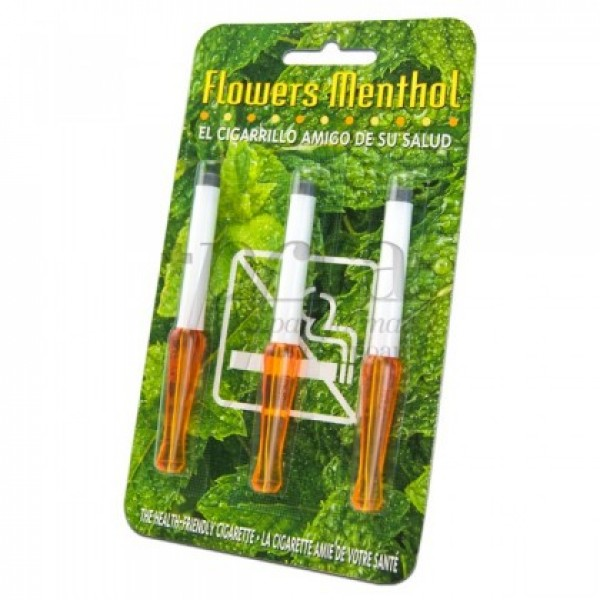 FLOWER MENTOL 3 CIGARRILLOS