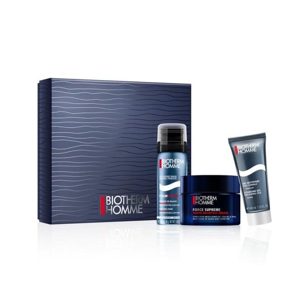 Biotherm homme force supreme crema + espuma 50ml + cleansing gel 40ml
