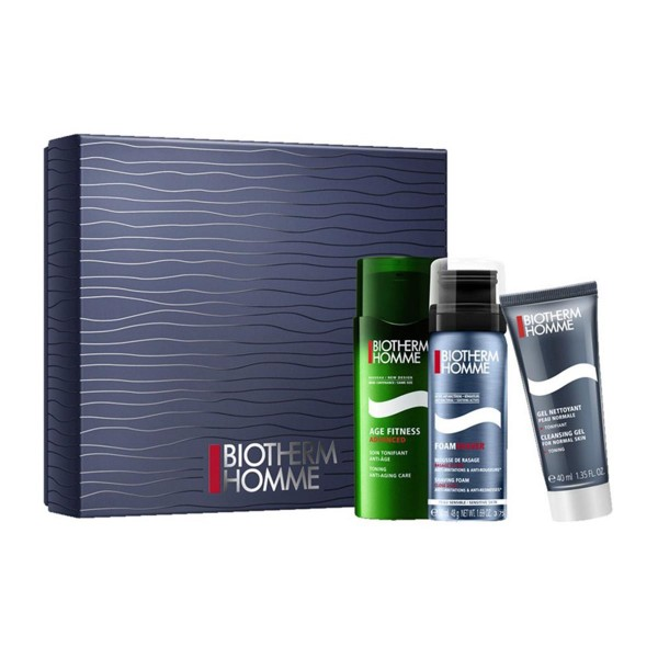 Biotherm homme age fitness espuma 50ml + cleansing gel 40ml + gel 75ml