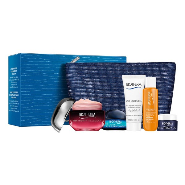 Biotherm blue therapy accelerated crema red algae + crema de ojos 5ml + crema de noche 15ml + total renew oil 30ml + leche 40ml