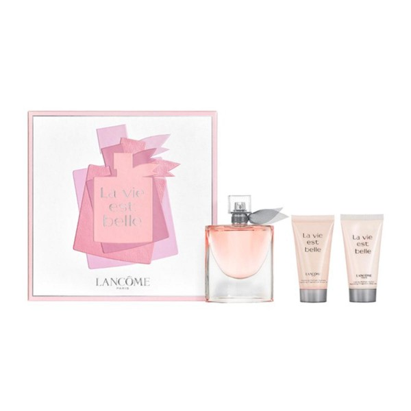 Lancome la vie est belle eau de parfum 75ml vaporizador + body milk 50ml + shower gel 50ml