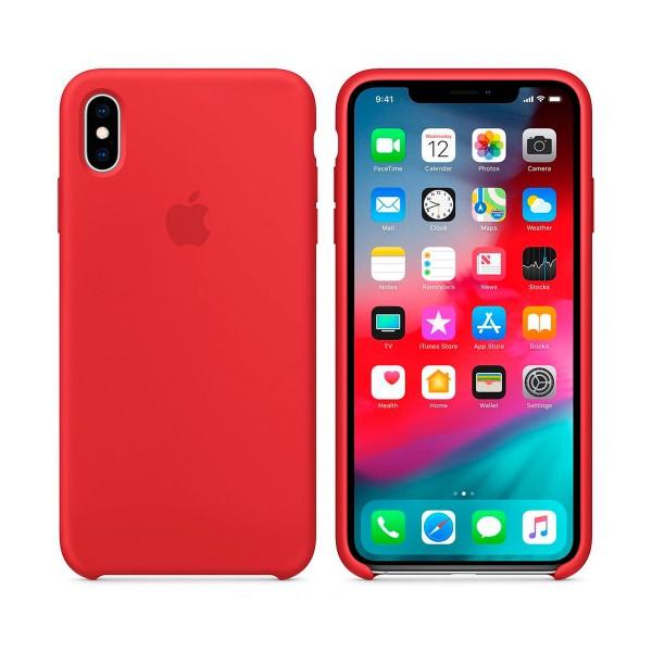 Apple mrwh2zm/a rojo carcasa de silicona apple iphone xs max