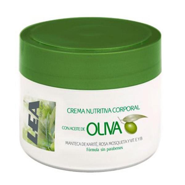 Lea hombre crema nutritiva corporal con aceite de oliva 200ml