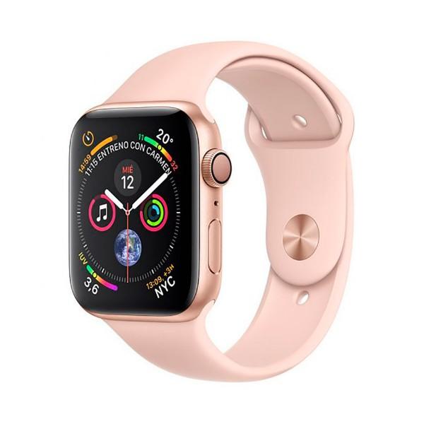 Apple watch series 4 oro con correa rosa reloj 40mm smartwatch 16gb wifi bluetooth gps pantalla oled