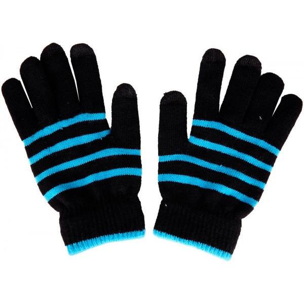 Akashi altglovebbh guantes táctiles unisex negro y azul especiales para pantallas