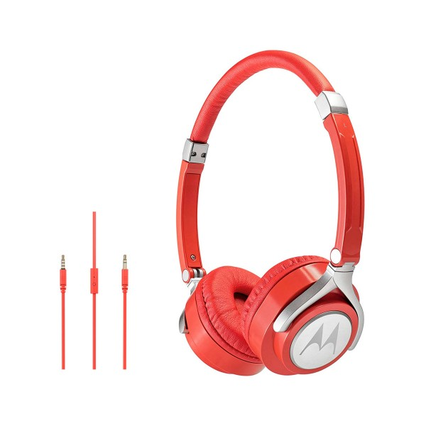 Motorola pulse 2 rojo auriculares de diadema estéreos con cable