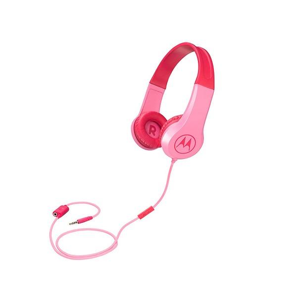 Motorola squads 200 rosa auriculares de diadema para niños