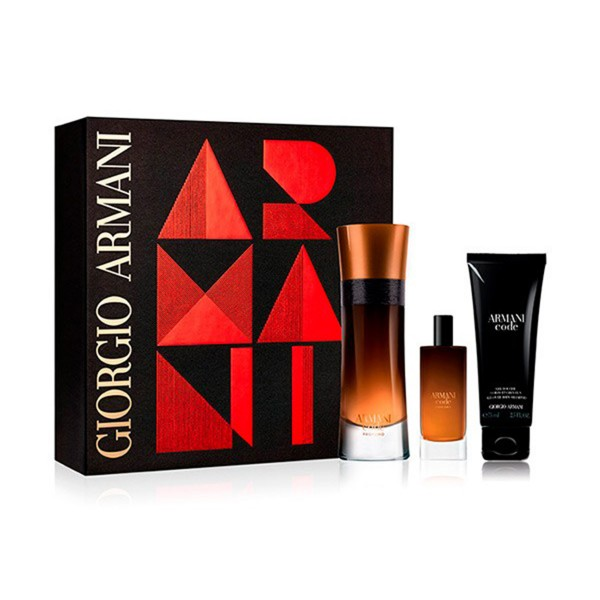 Giorgio armani code men profumo eau de parfum 110ml vaporizador + gel de baño 75ml + eau de parfum 15ml vaporizador