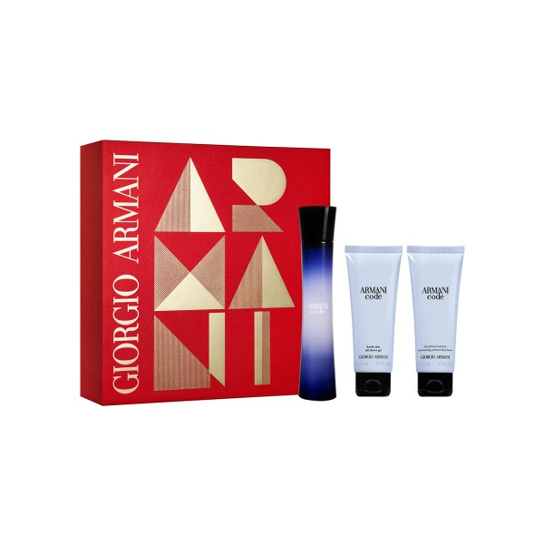 Giorgio armani code femme eau de parfum 75ml vaporizador + gel de baño 75ml + locion corporal 75ml