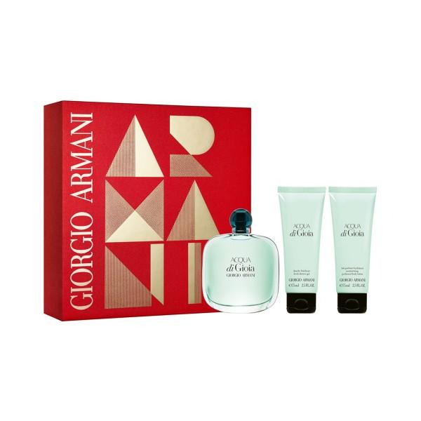 Giorgio armani acqua di gioia eau de parfum 100ml vaporizador + gel de baño 75ml + locion corporal 75ml