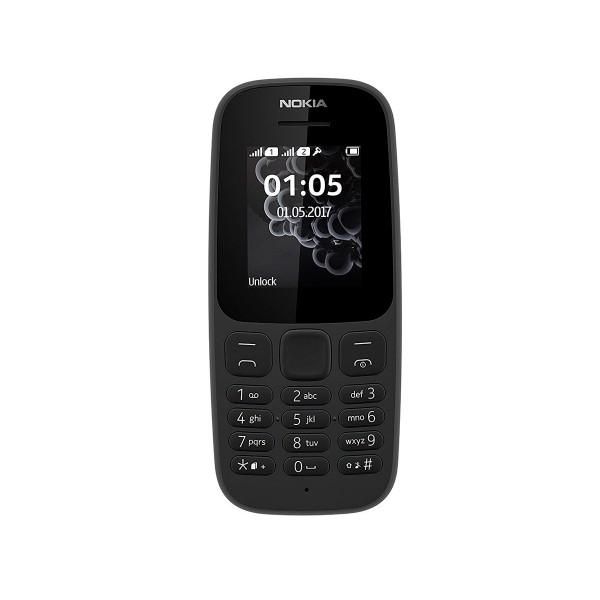 Nokia 105 (2017) negro móvil senior dual sim 1.8'' radio fm juego snake xenzia y batería de larga duración