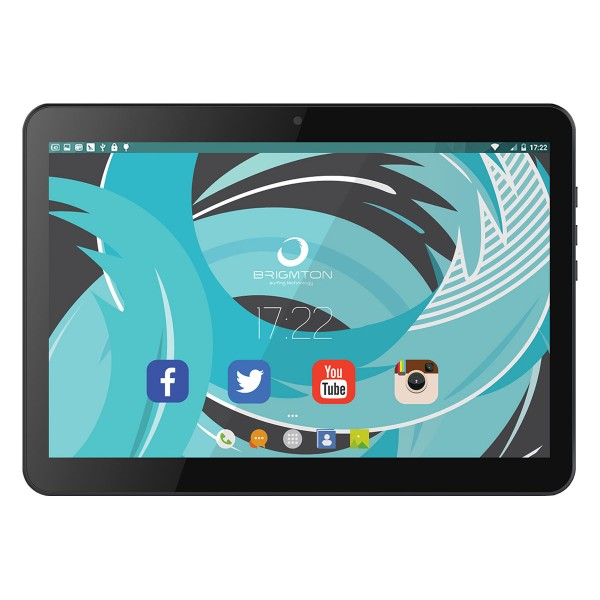 Brigmton btpc1021 negro tablet 3g dual sim 10'' ips hd/4core/16gb/1gb ram/2mp