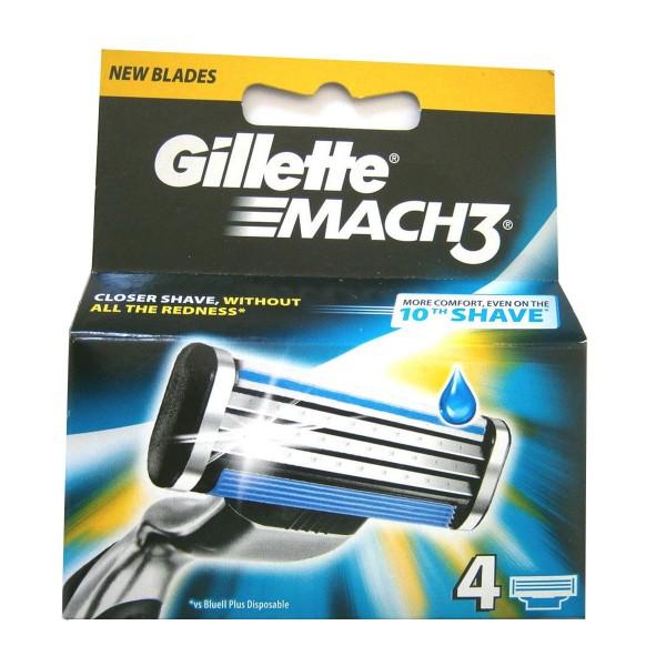 Gillette mach3 recambio 4ud.