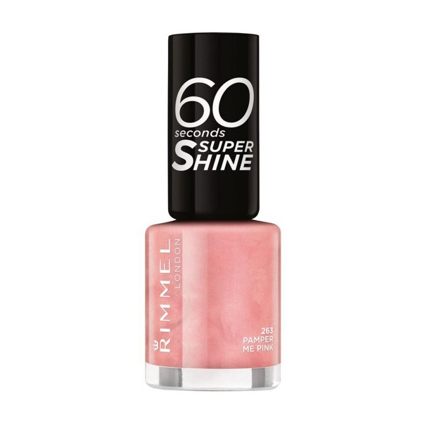 Rimmel 60 seconds super shine laca de uñas 263 pamper me pink