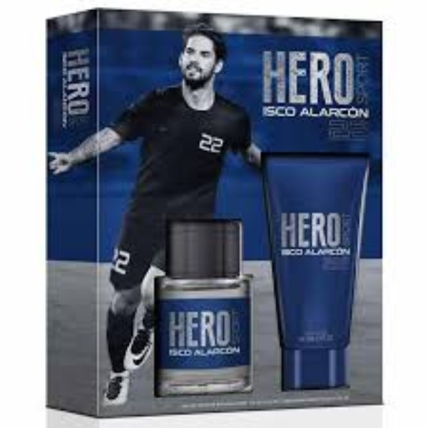 HERO SPORT SET COLONIA 100 V + AFTER SHAVE 75 ml