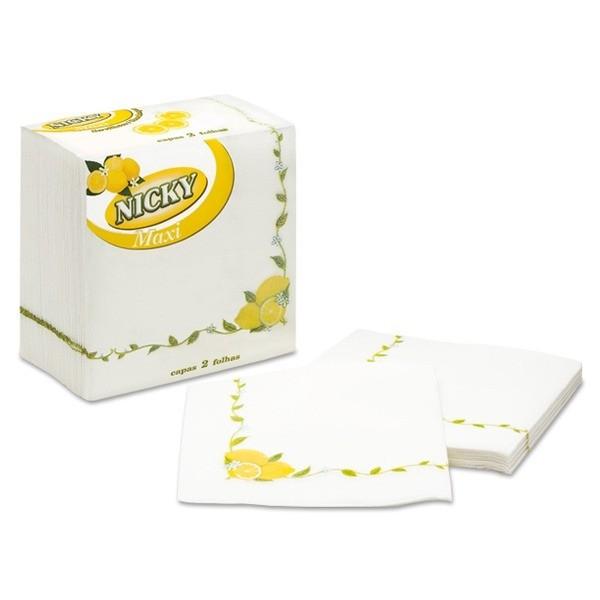 NICKY Servilletas Maxi Decor Limón  2 Capas 65 u