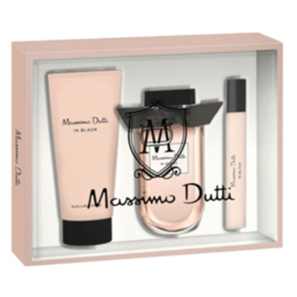 MASSIMO DUTTI SET Black  For  Her  Colonia 80 V + Body Lotion 75 ml + EDT 15 ml