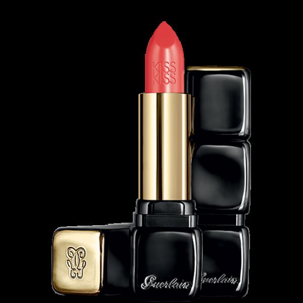 Guerlain kiss kiss barra de labios 320 red insolence + brochas + labios