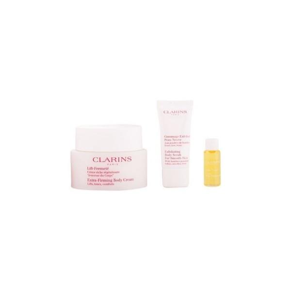 Clarins lift fermete crema corporal 200ml + exfoliante 30ml + aceite 10ml