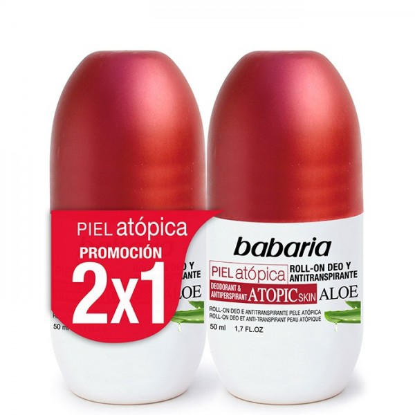 Babaria piel atopica desodorante roll-on anti-transpirante aloe 50ml + desodorante roll-on 50ml