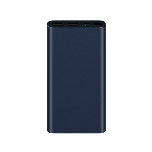 Xiaomi power bank 2s negro 10.000mah batería portátil 2xusb diseño en aleación de aluminio