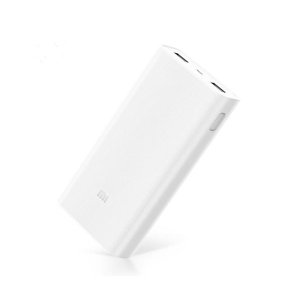 Xiaomi mi power bank 2c blanco cargador portátil de 20.000mah diseño compacto 2 puertos usb